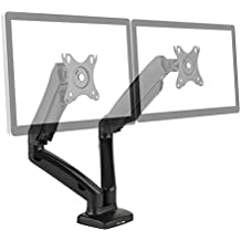 """auna LDT13-C024USB Soporte de mesa para doble monitor (brazos articulados, para pantallas de 13-27"""", USB, 6 kg máxima carga, giratorio, inclinable, abatible)"""