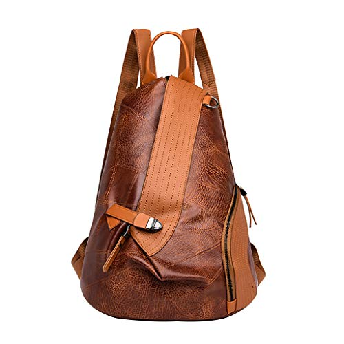 Muium Zaino Casual Donna Women Color Matching Wild Fashion Leisure Travel Bag Student Bag Backpack Daypack