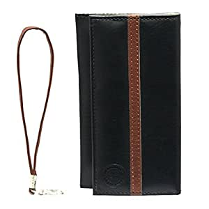 Jo Jo A5 S Series Leather Wallet Universal Pouch Cover Case For Vivo X6S Black Dark Brown