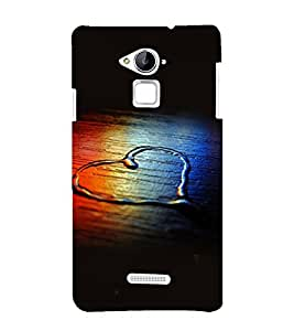 printtech Wooden Heart Water Design Back Case Cover for Coolpad Note 3 Lite Dual SIM with dual-SIM card slots