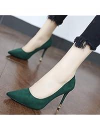 YMFIE Semplice ed elegante temperamento elegante a punta, con tacco alto sexy e scarpe basse da lavoro, 37 EU