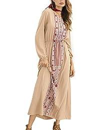 Vestido Maxi Bohemio de Las Mujeres del Vestido Floral de la Manga Larga del Abrigo