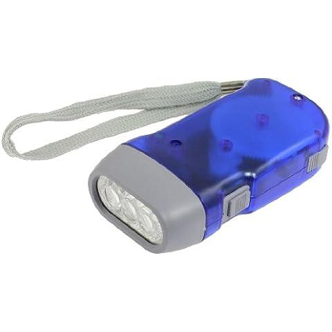 senza batteria mano -alimentato 3 LED torcia chiaro blu