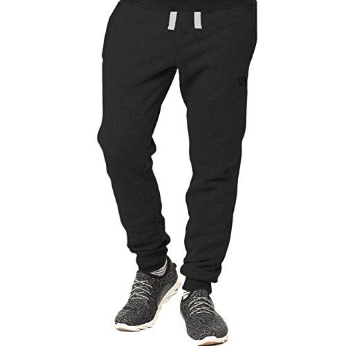 urban air | Athleisure One | komfortable Jogginghose, Sporthose, Sweatpants | Herren | für Fitness und Freizeit | grau, schwarz | S, M, L (M, schwarz)