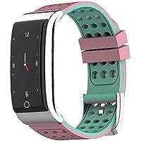 DGRTUY - Pulsera Inteligente para Fitness IP67, Impermeable, con tensiómetro, Color Rosa