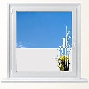 DD Dotzler Design 6416-6 individuelle Sichtschutzfolie Fensterfolie Milchglas Bambus