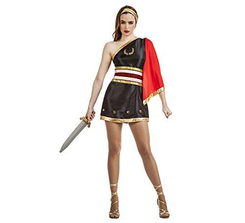 Imagen de disfraz de gladiadora negro para mujer