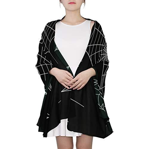 WOCNEMP Schwarze Spinnen und zerbrochene Netze Einzigartiger Mode-Schal für Frauen Leichte Mode Herbst Winter Print Schals Schal Wraps Geschenke für den Vorfrühling