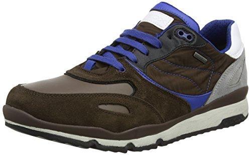 Geox U Sandford B ABX A, Sneaker Uomo Marrone (Ebony)