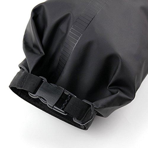 DuraGadget - 10l Outdoor - Dry Bag | Wasserfeste Tasche | Pack Sack | See Sack ideal für Outdoor Sport wie Segeln, Kayaking, Boot fahren, Mountain biking, Camping, Schwimmen Schwarz_Blau
