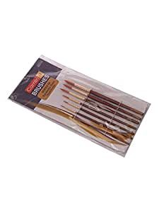 Camlin Kokuyo Paint Brush Series 66 - Round Synthetic Gold, Set of 7