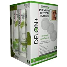 Delon+ Delon 100% Cotton Rounds, New and Improved Premium Quality Softer Edges, 9x100 Count