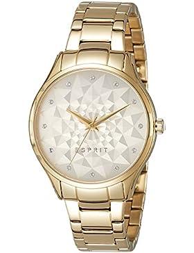 Esprit Damen-Armbanduhr gold Analog Quarz Edelstahl beschichtet ES109022002