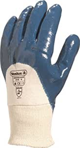 Delta-plus - Paire de gants de protection nitrile bleu - Taille. 9 -