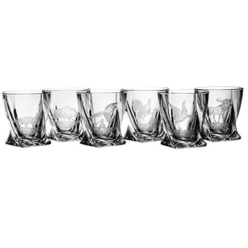 Lot de aljulia 3819 - Verres à Whisky Hunter en verre 12 ml (Lot de 6)