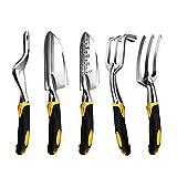 Garten-Werkzeug Hand Kelle, Rechen, Kultivator, Weeder Werkzeuge mit ergonomischem Griff, Garten Rasen Ackerland Transplantations Garten Bonsai-Werkzeug