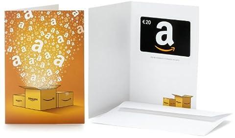 Carte cadeau Amazon.fr - €20 - Dans une carte de vœux Amazon