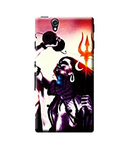 Be Awara Shiva with Damru And Trishul Designer Mobile Phone Case Back Cover For Sony Z4