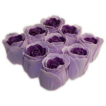 Roses de bain - 9 Roses dans boîte cadeau (Lavande). Parfum lavande, Couleur Lavande. Contient 9 roses de bain dans une boîte cadeau, fini avec un ruban. Un cadeau parfait - Idéal pour les anniversaires, Noël, etc.
