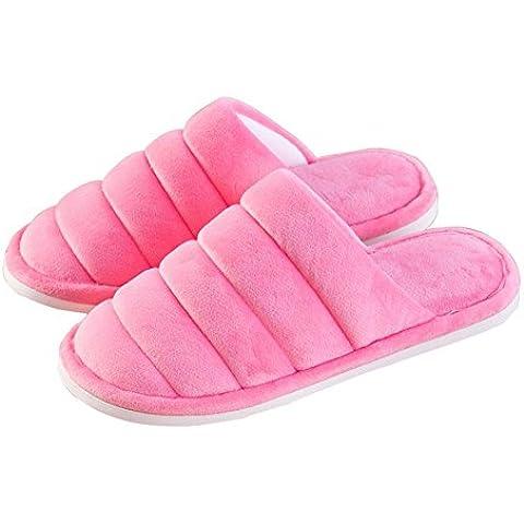 SHIXR Women 's nuovi modelli di coperta Pantofole Coppia pantofole casa calda di cotone , b , 37/38