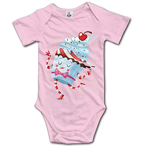 Climbing Clothes Set Ice Cream Bodysuits Romper Short Sleeved Light Onesies for 0-24 Months ()