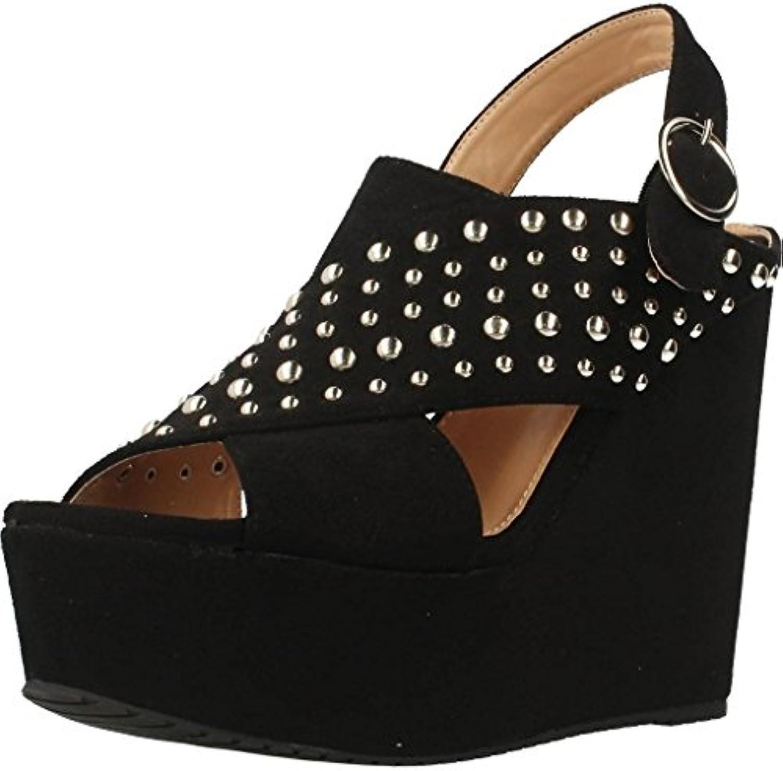 Moda Nuevo Zapatos con Tacon Alto para Mujer Plataforma 40 EU|Black