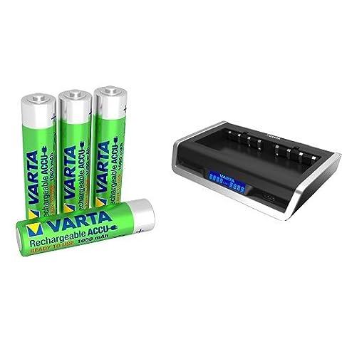 Varta Rechargeable Accu Ready2Use vorgeladener AAA Micro Ni-Mh Akku mit VARTA LCD Multi Ladegerät