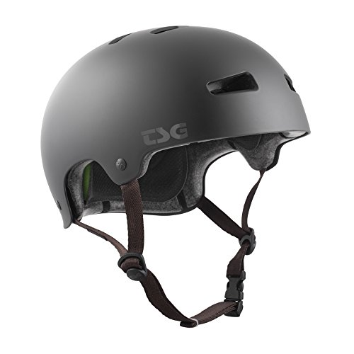 TSG Erwachsene Kraken Solid Color Helm, Satin Black, S/M