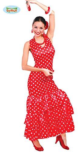 Imagen de disfraz de sevillana roja para mujer adulta