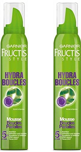 Garnier - Fructis Style Hydra Boucles - Mousse cheveux - Extrait de Bambou Lot de 2
