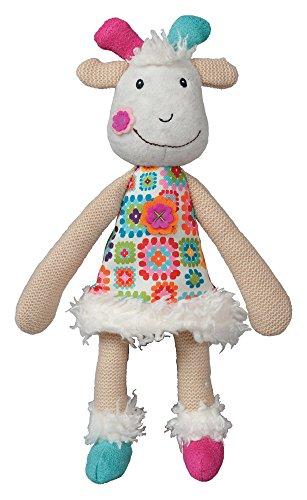 Ebulobo Peace und Love La Happy Farm Puppe (Huguette m. der Ziegen-) (Farm Tier Stofftiere)