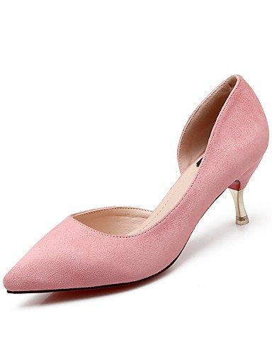 GS~LY Da donna-Tacchi-Ufficio e lavoro / Formale / Casual / Serata e festa-Tacchi / A punta-A stiletto-Felpato-Nero / Rosa / Grigio / Borgogna pink-us6 / eu36 / uk4 / cn36