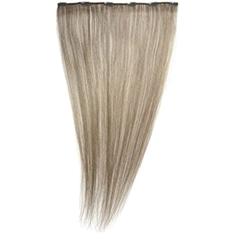 Love Hair Extensions - Extensiones de pelo natural con clips, rubio ceniza, 24