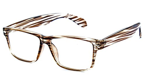 Nerd Clear Wayfarer Nerd-Brille ohne Stärke Braun Holz Herren Damen Geek-Brille