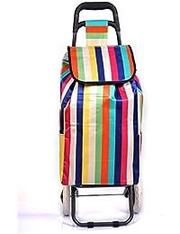 PAffy Foldable Shopping Trolley Bag (Rainbow)