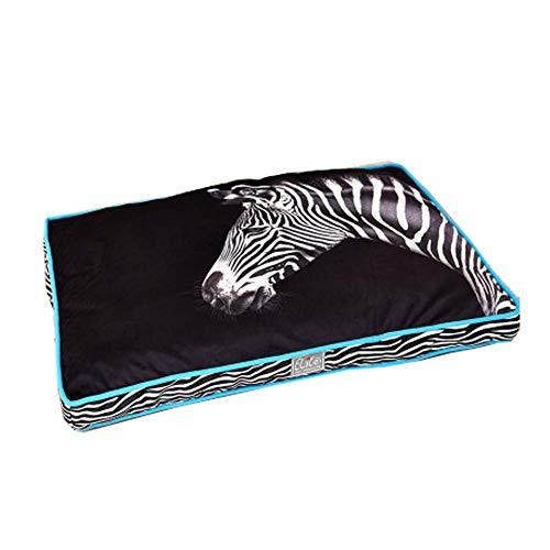 HIGHKAS Wasserdichtes orthopädisches Hundebett aus Memory Foam für quadratisches Zebramuster mit Käfig und Kiste