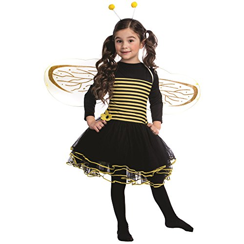 Dress Up America Bumblebee Kostüm Set für Mädchen Bumble Bee Kleid (Mädchen Bumblebee Für Kostüm)