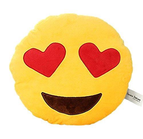 Desire deluxe cuscino emoji faccina occhio di cuore sorridente cuscino emoticon faccia occhio di cuore che ride grande cuscino decorativo peluche emoji pupazzo emoji smile face colore giallo