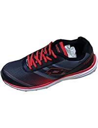 Leather Shoes Men Lotto Men's Tremor Running Shoes Red Black - 8
