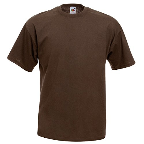 Fruit of the Loom Herren T-Shirt Braun - Chocolate
