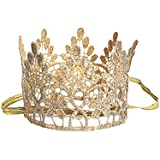 LUOEM Party Hats Tiara Crown Hat Cap Party Supplies For Kids Baby Birthday Celebration Baby Shower Photo Props Christmas Birthday Gift For Children (Gold)