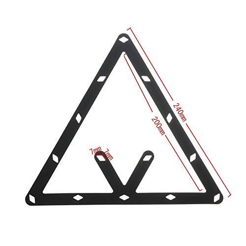 pushfocourag: 6 Billard-Dreiecke, für 8, 9  und 10 Kugeln, zur Kugel-Positionierung, wandelbar, Schwarz