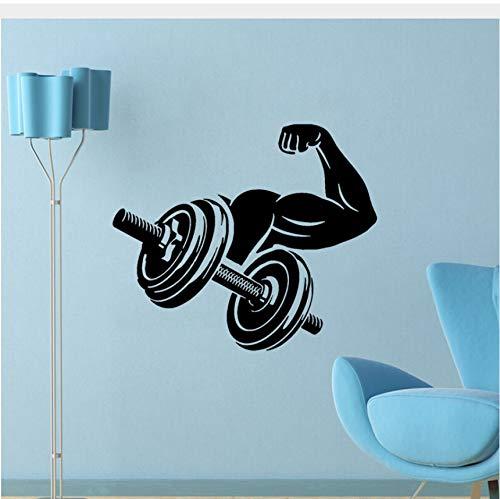 Muskel Arm Gewichtheben BodybuildingWandaufkleberPVC Wohnzimmer Das Schlafzimmer Abziehbilder Dekor50x43 cm