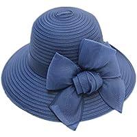 3e1ed47a1a21c W-HUWAI Sombrero De Pescador para Mujer Sombrero De Paja Sombreros De Cubo  Sombrero De