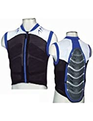 Protector Espalda Waistcoat Protector Color Blsck White Blue