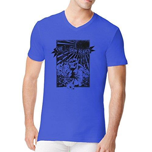 Gothic Fantasy Männer V-Neck Shirt - The Grim Reaper by Im-Shirt Royal