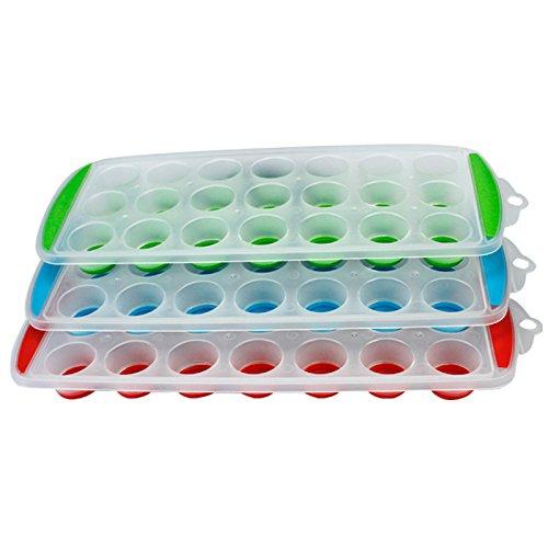 TOOGOO(R) Eiswuerfelform Eiswuerfel Eisform Eiswuerfelbereiter Eiswuerfelschale POP Zucker Teller in Farben zufaellig