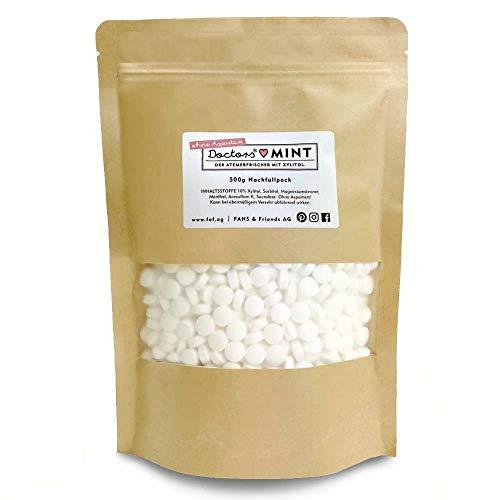 Nachfüllpack DOCTORS Mint | 500g Pfefferminz-Bonbons mit Xylit, zuckerfrei | ohne Aspartam | Bonbons mit Xylit