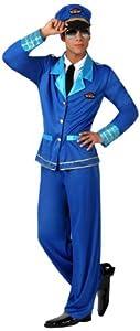 Atosa- Disfraz piloto, Color azul, XL (15791)