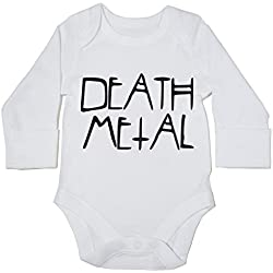 Death metal body bebe unisex manga larga
